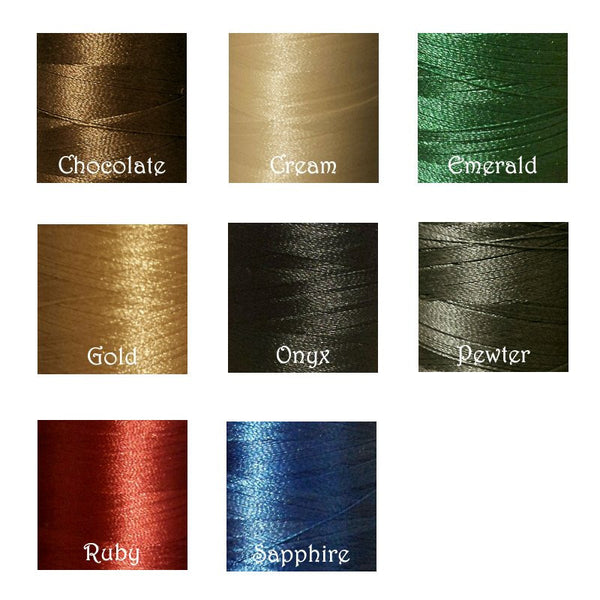 Custom embroidery thread color choices.