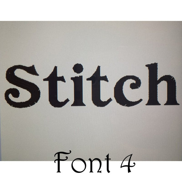 Embroidered font choice 4