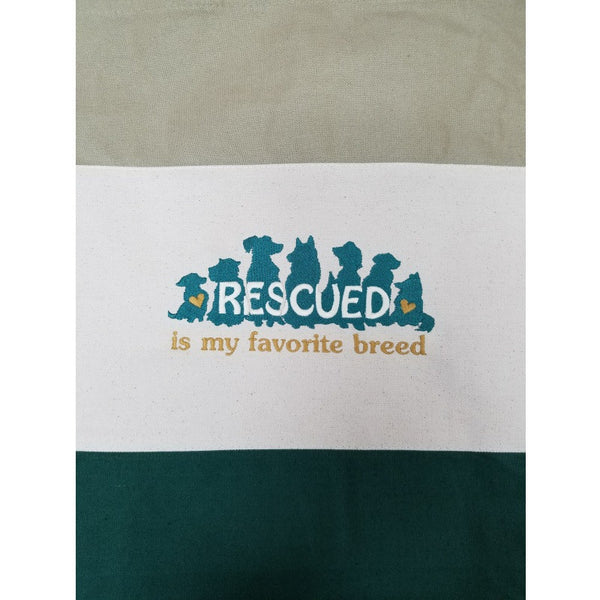 Rescued tote bag green close