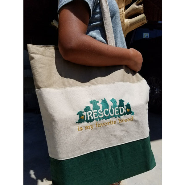 Rescued tote bag green