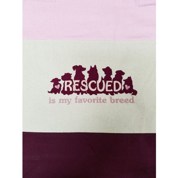 Rescued tote bag maroon close