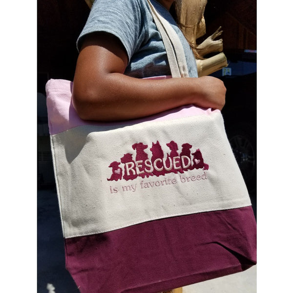 Rescued tote bag maroon