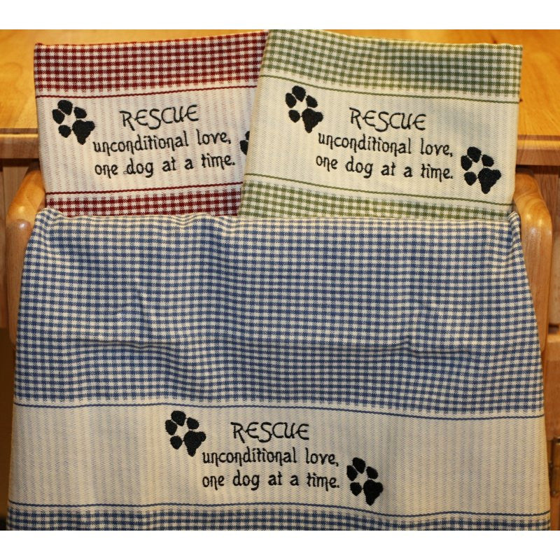 Embroidered Dog Rescue Towels
