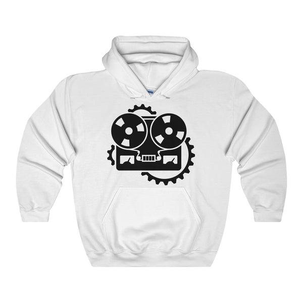 URM Tape Machine Hooded Sweatshirt, Black Print
