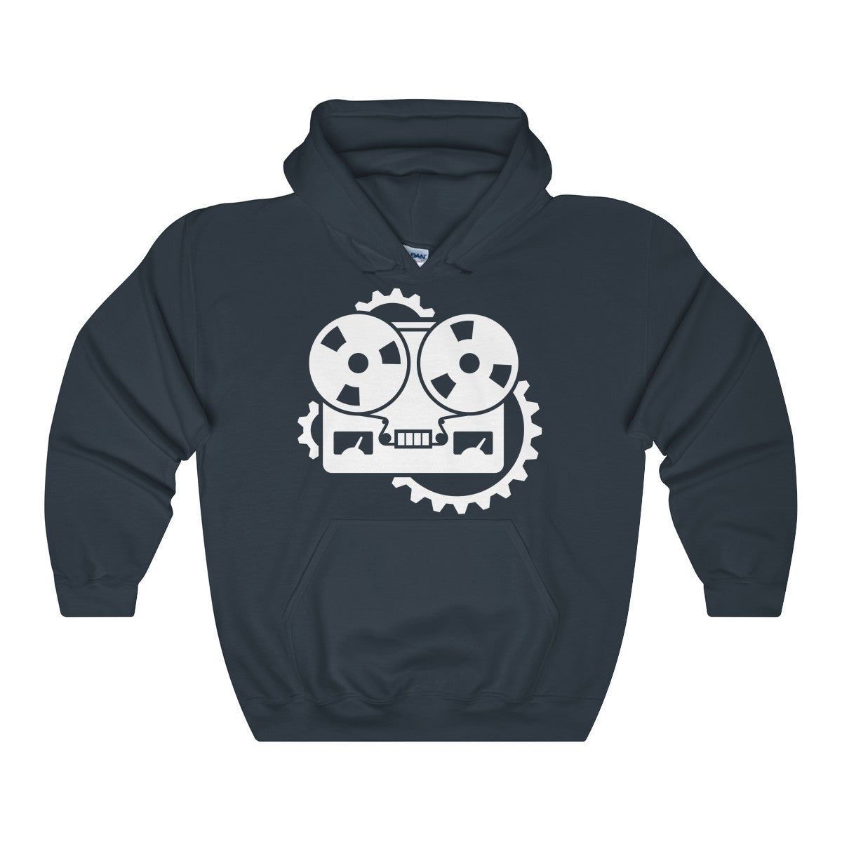 URM Tape Machine Hooded Sweatshirt, White Print