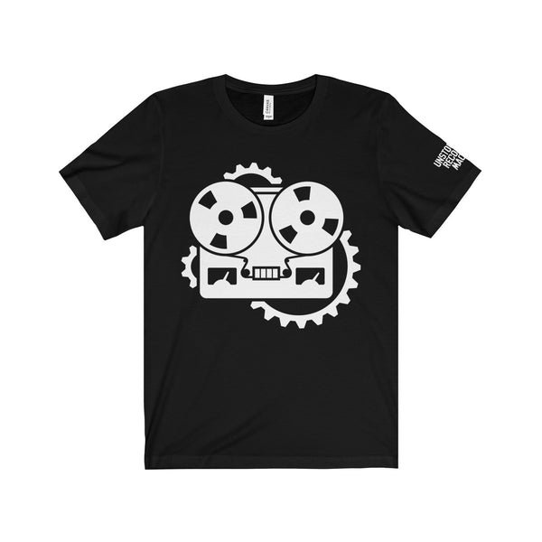 URM Tape Machine T-Shirt, White Print