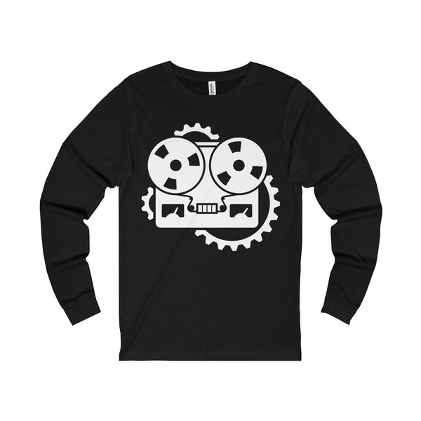 URM Tape Machine Jersey Long Sleeve Tee, White Print