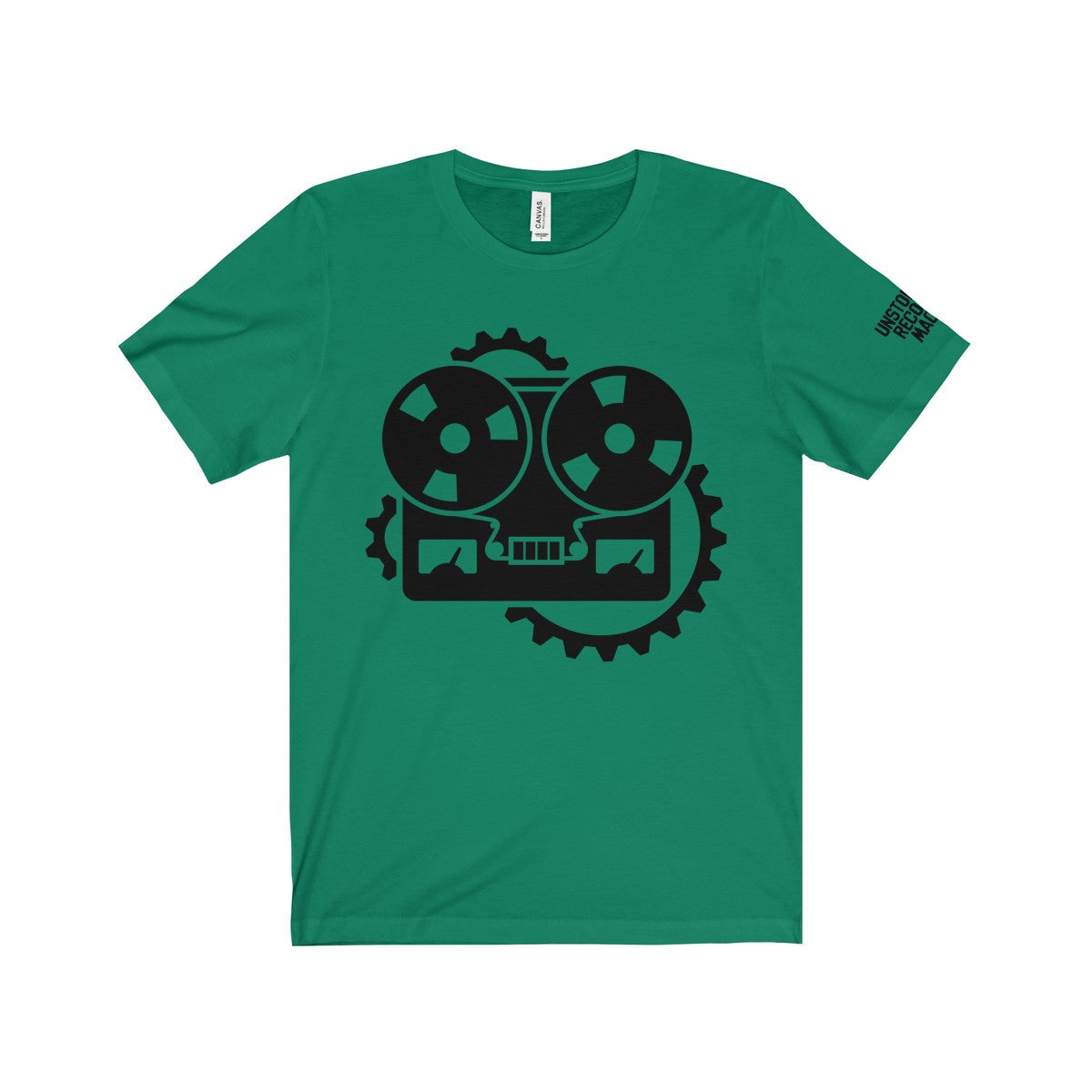URM Tape Machine T-Shirt, Black Print