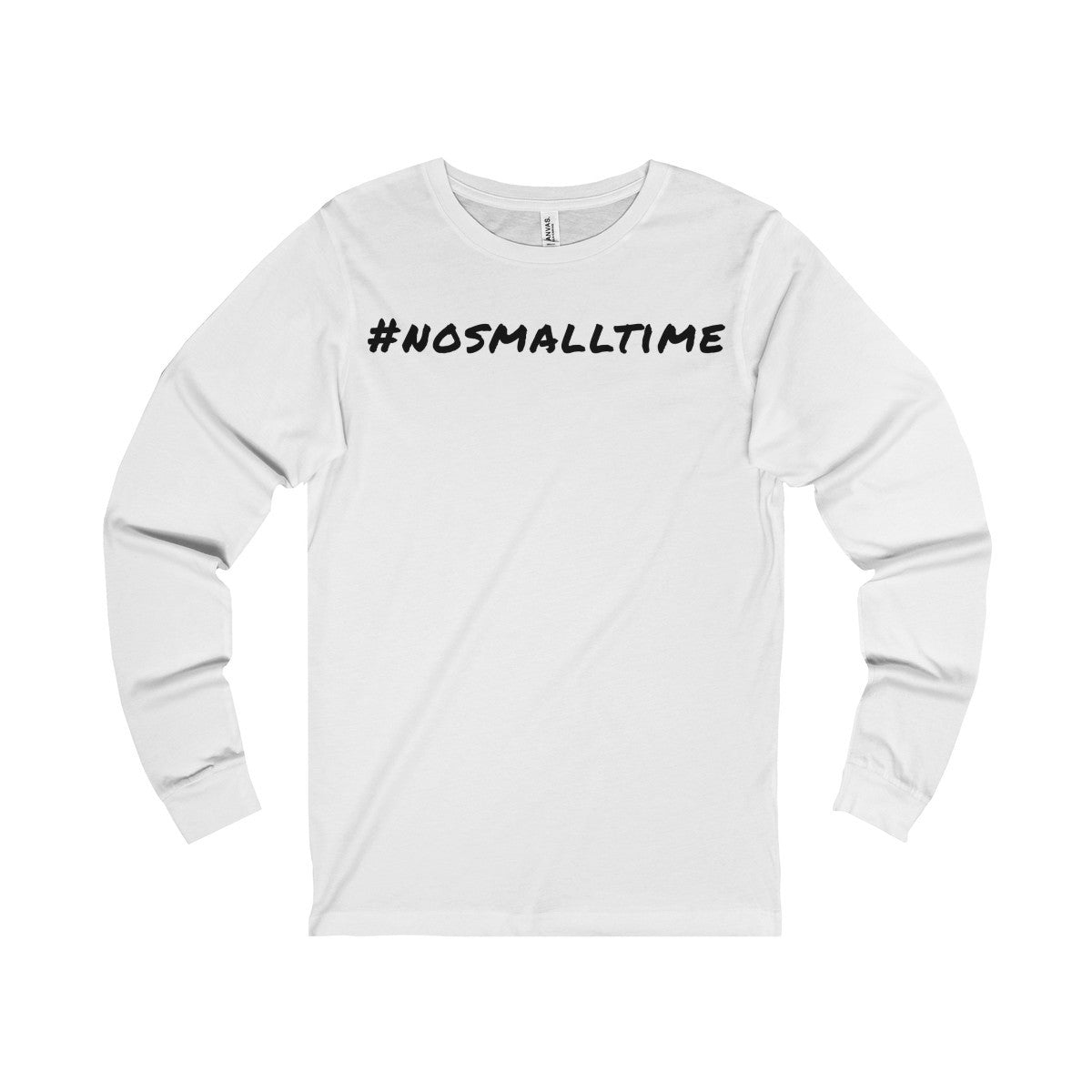 #nosmalltime Long Sleeve T-Shirt, Black Print