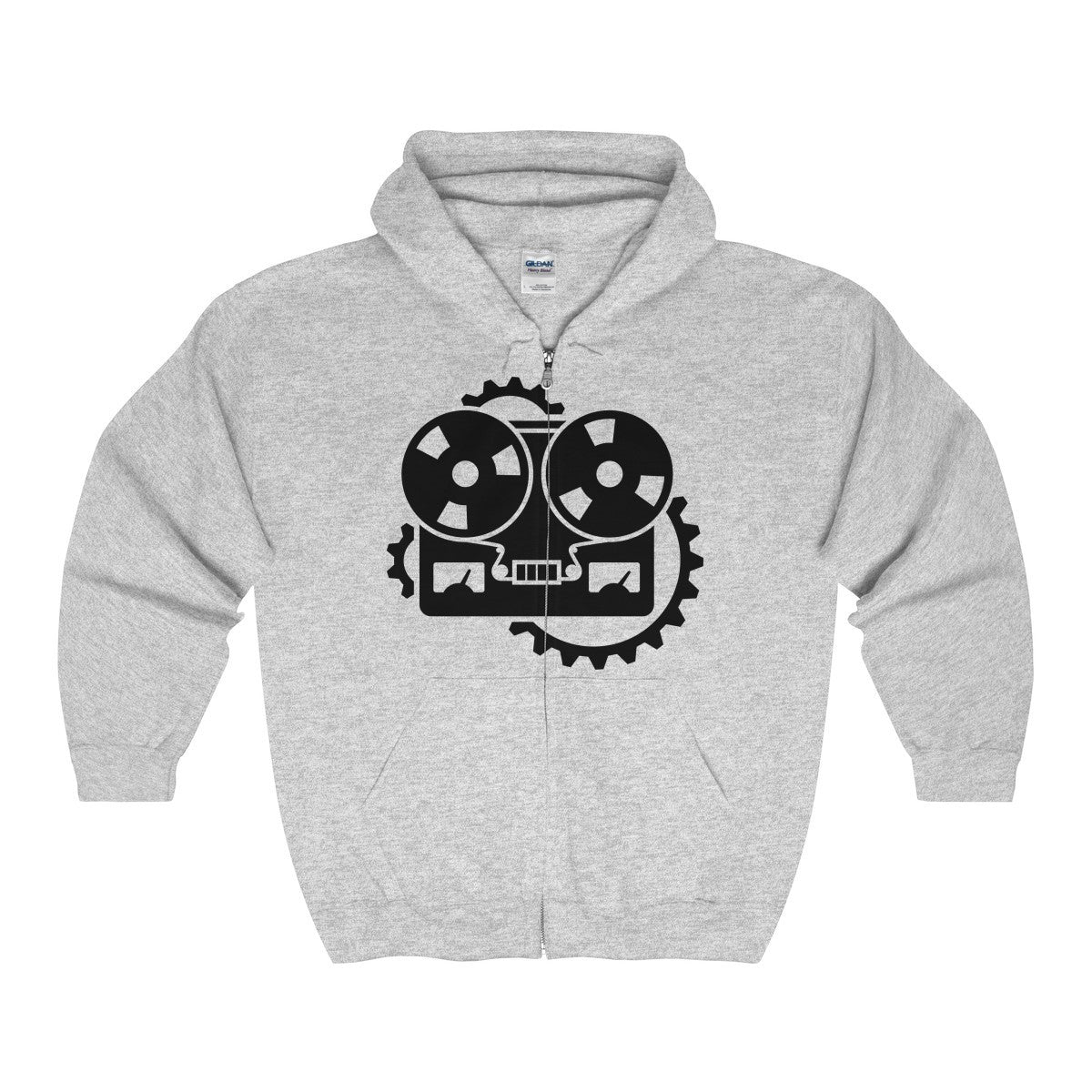 URM Tape Machine Zip Hooded Sweatshirt, Black Print