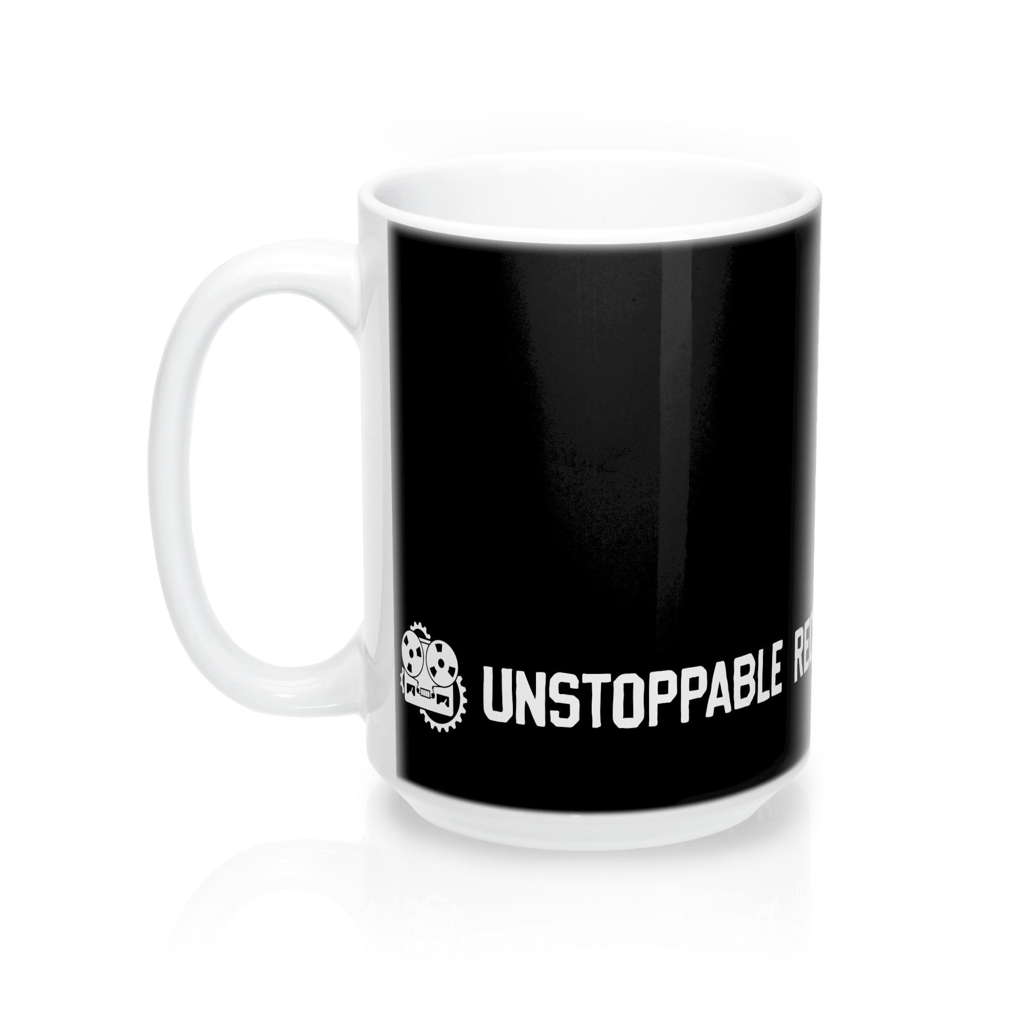 Unstoppable Recording Machine Wrap Mug, Black