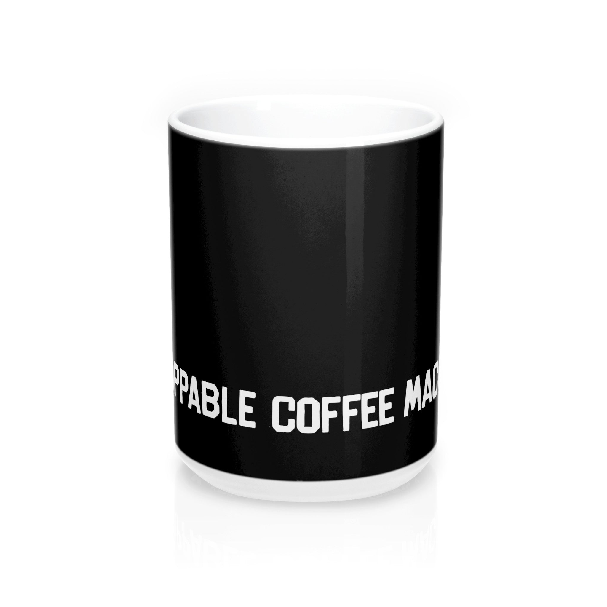 Unstoppable Coffee Machine Wrap Mug, Black