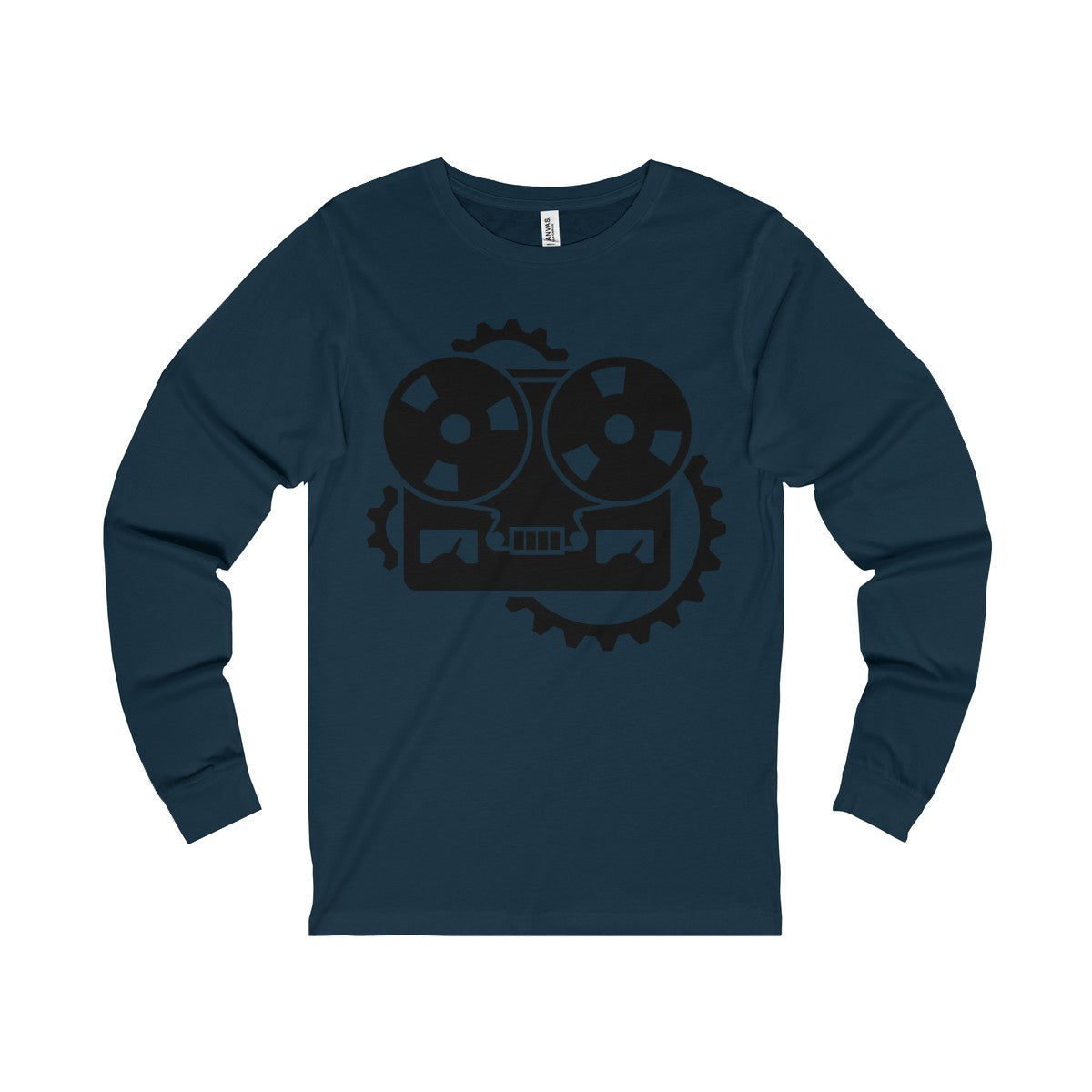 URM Tape Machine Jersey Long Sleeve Tee, Black Print