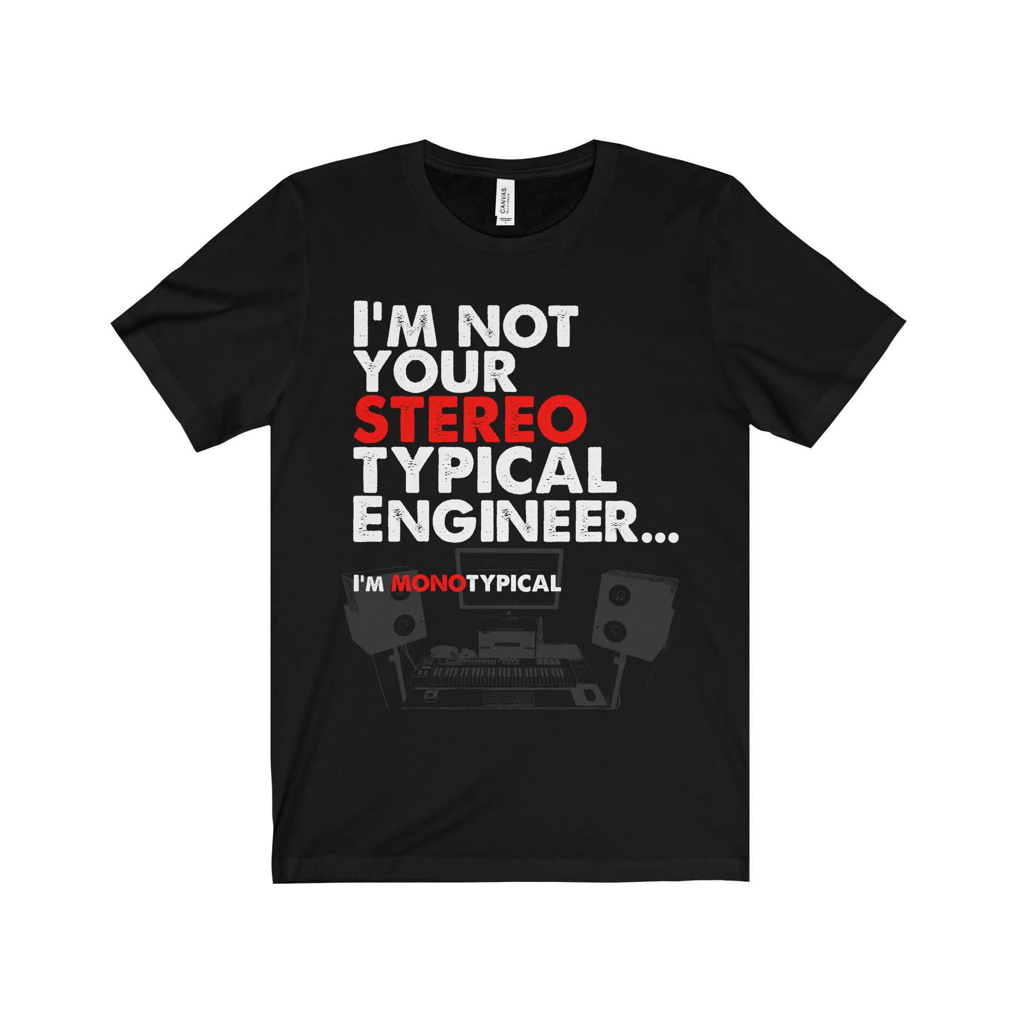 Stereo/Mono Typical Engineer, Short Sleeve T-Shirt