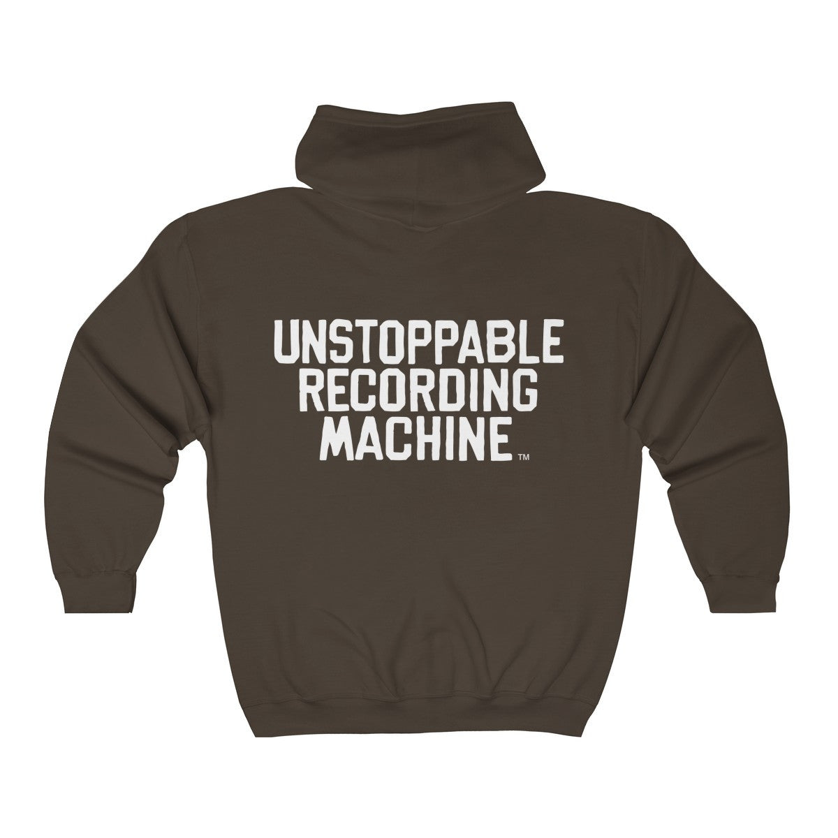 URM Tape Machine Zip Hooded Sweatshirt, White Print
