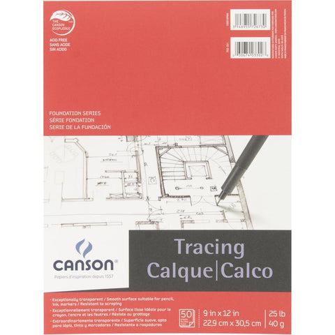 Canson Foundation Series - Tracing Paper Pad 9x12 inch 50pk