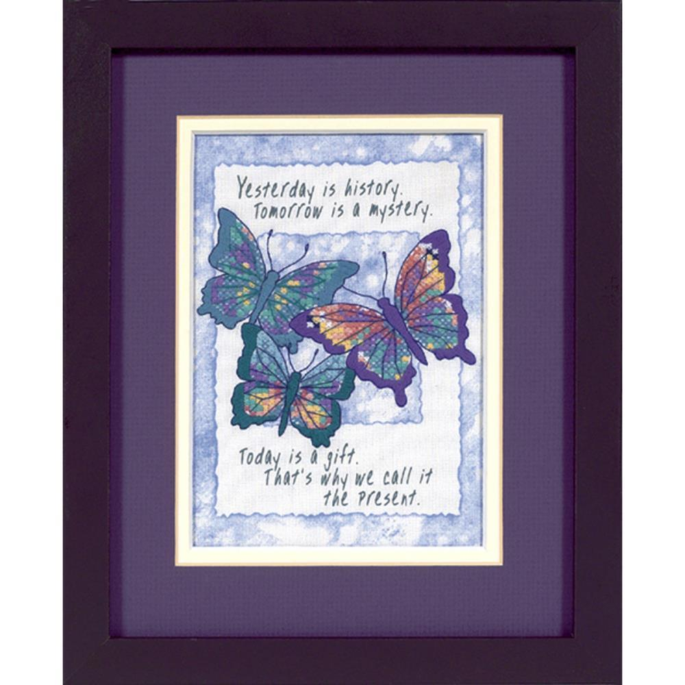 Dimensions/Jiffy Mini Stamped Cross Stitch Kit 5X7 Today Is A Gift