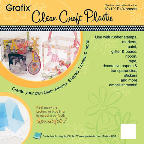 Grafix Craft Plastic Sheets - Clear .020