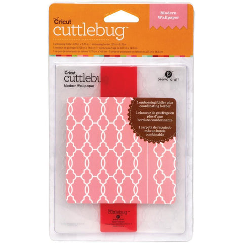 Cuttlebug A2 Embossing Folder/Border Set - Modern Wallpaper
