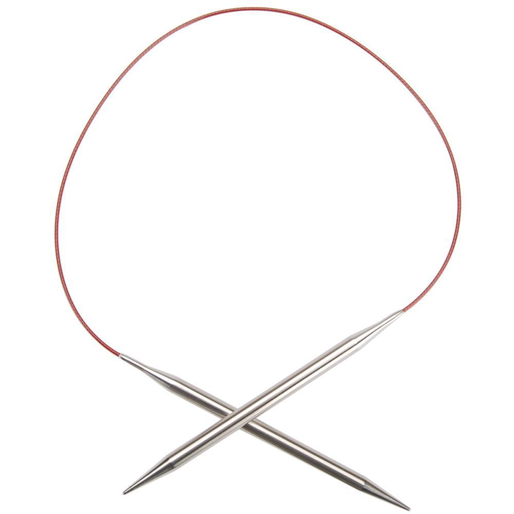 ChiaoGoo Red Lace Stainless Circular Knitting Needles 24 inch Size 1/2.25mm