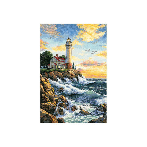 Dimensions/Gold Collection Counted Cross Stitch Kit 11x17 inch - Rocky Point (18 Count)