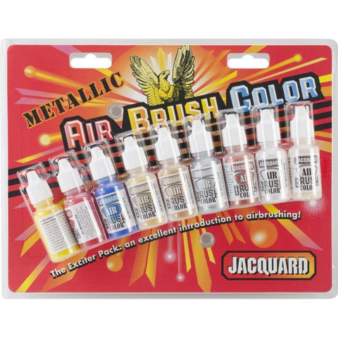 Jacquard - Metallic Airbrush Colour Pack .5oz 9 pack