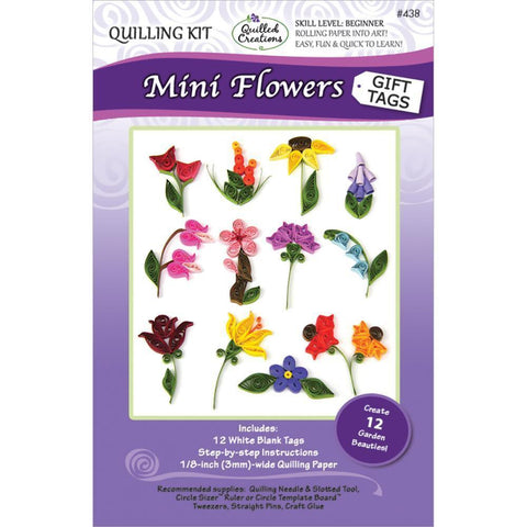 Quilled Creations - Quilling Kit Mini Flower Gift Tags