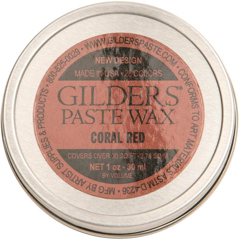 Baroque Art Gilders Paste 1oz - Coral Red