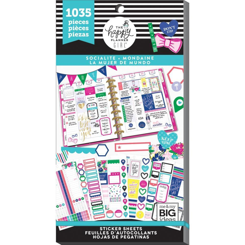 Happy Planner Sticker Value pack - Socialite, 1035 pack