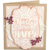 Sizzix Thinlits Dies By Katelyn Lizardi 4 pack You Are My Happy