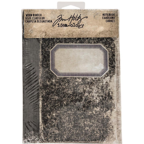 Tim Holtz - Idea-Ology - Worn 2-Ring Binder 5x7 inch with 1.25 inch Spine - Notebook