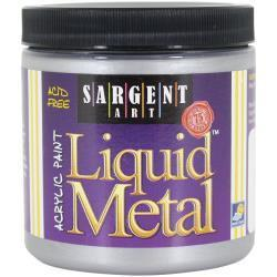 Sargent Art Liquid Metal Acrylic Paint 8oz Silver