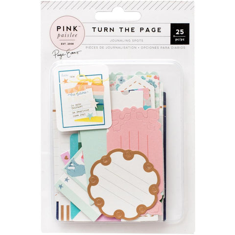 Pink Paislee - Paige Evans Turn The Page - Journaling Spots w/ Matte Gold Foil 25 Pk