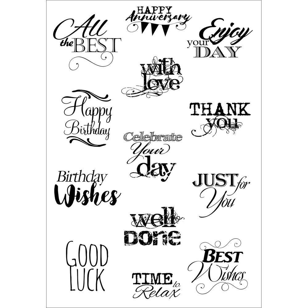 Debbi Moore Life Quotes A5 Stamp Sheet - Inspiration 6
