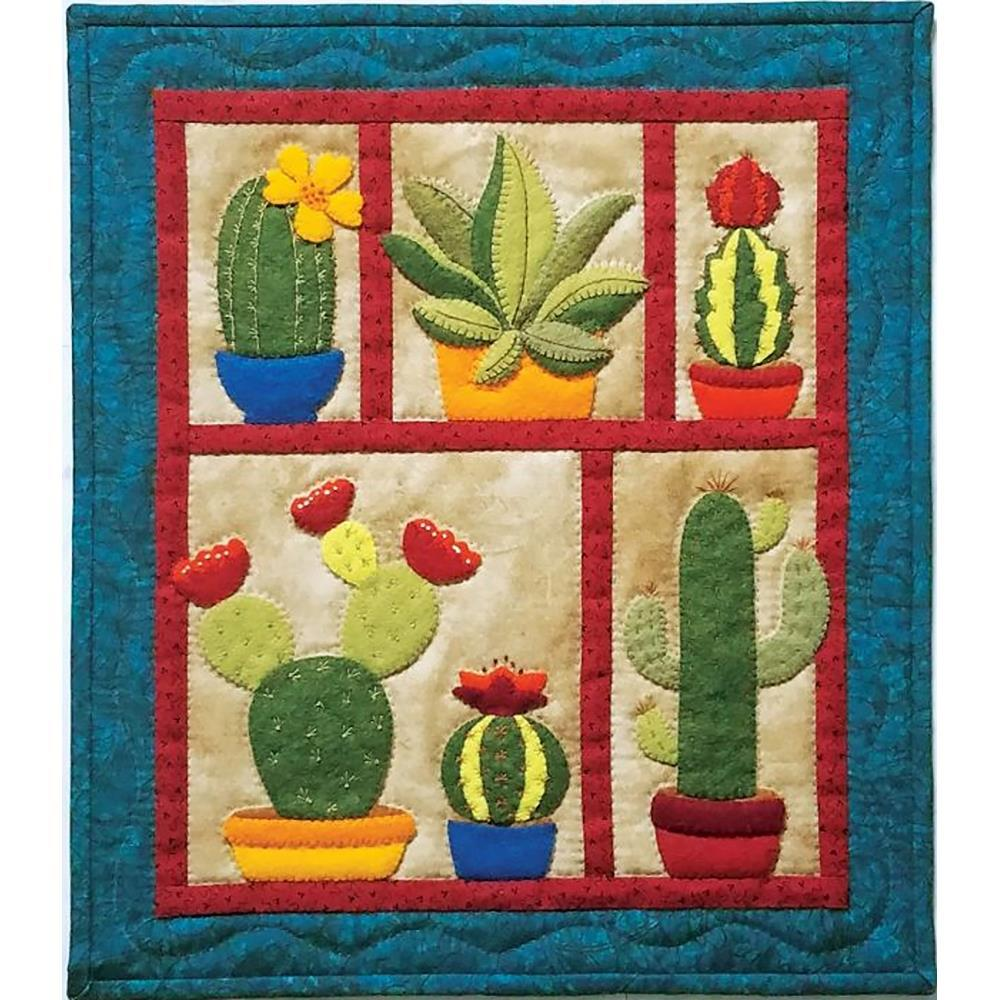 Rachels Of Greenfield - Wall Quilt Kit 13 inch X15 inch - Succulents