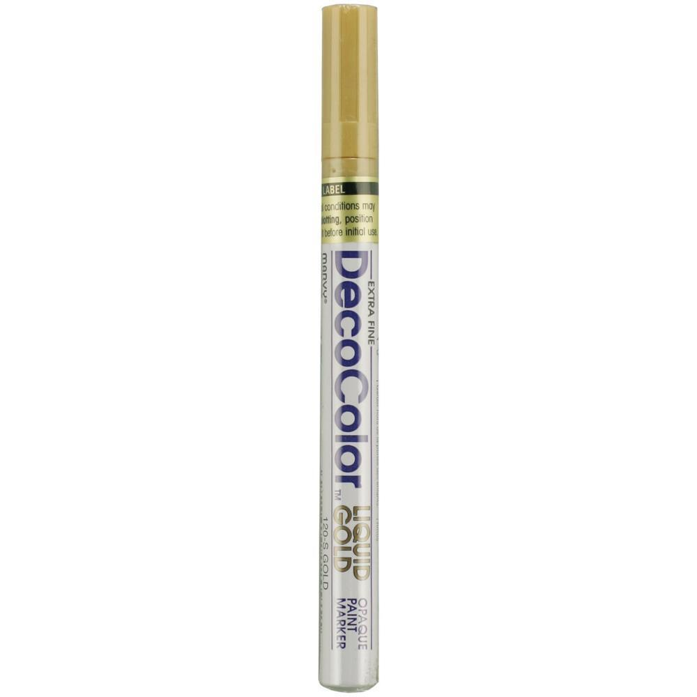 DecoColor Extra Fine Oil-Based Opaque Paint Marker Gold