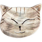 Paradise Cat Head Needle Keeper (Minder) - Made from Blacklip Abalone Shell
