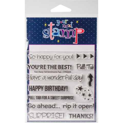 Your Next Stamp Clear Stamps 4x4 - Tear Away Tab 2