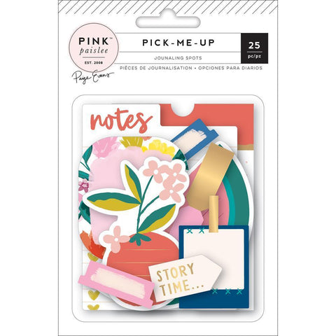 Pink Paislee - Paige Evans Pick Me Up - Journaling Spots Die-Cuts w/ Gold Foil