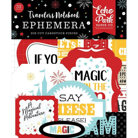 Echo Park Travellers Notebook Cardstock Die-Cuts 33 pack - Wish Upon A Star