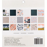 American Crafts One Canoe Two S/SPaper Pad 12x12 inch 36 pack - Twilight with Champagne Foil