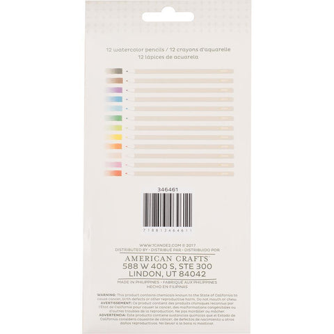 American Crafts - One Canoe Two Twilight Watercolour Pencils W/Tin 12 pack