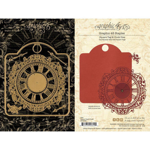Graphic 45 Dies - Square Tag & Clock