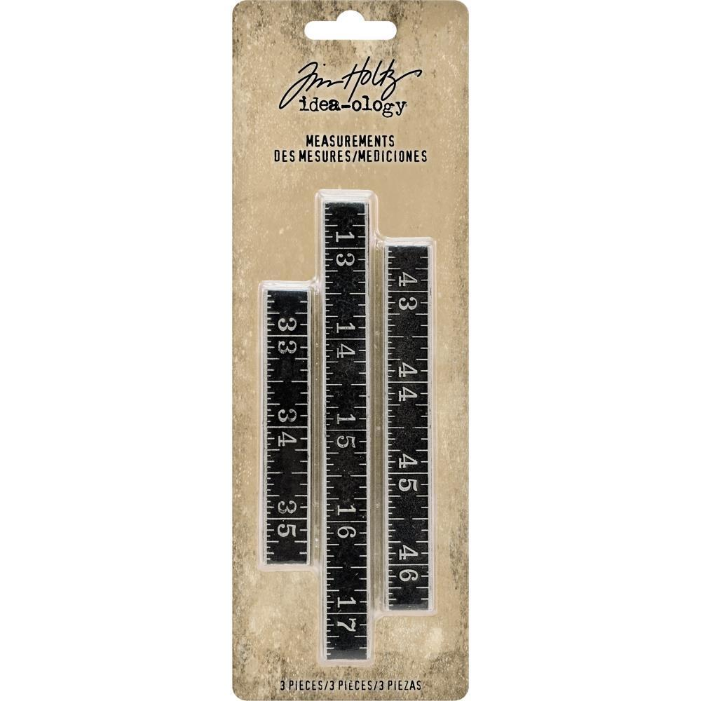 Tim Holtz Idea-Ology - Metal Ruler Measurements 3 pack