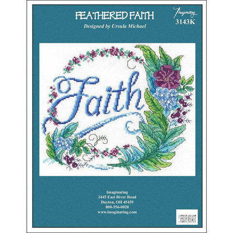 Imaginating Counted Cross Stitch Kit 9.5x8 inch - Feathered Faith (14 Count)