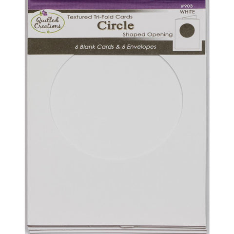 Quilled Creations - Cards & Envelopes 4x5.25 inch 6 pack - White