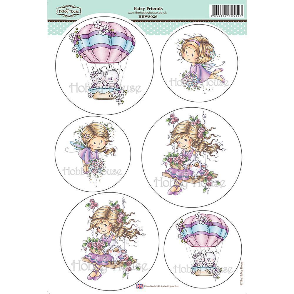 Wee Stamps Topper Sheet 8.3x12.2 inch - Fairy Friends