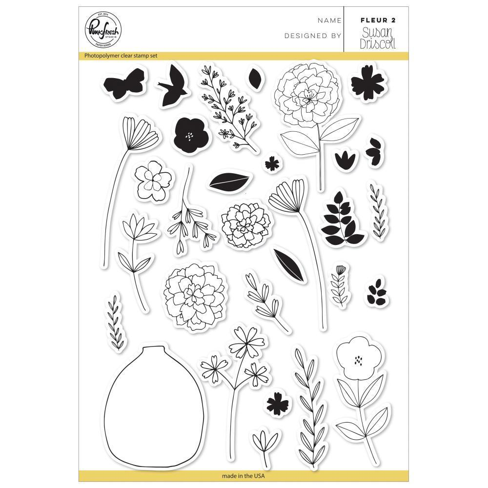 Pinkfresh Studio Clear Stamp Set 6x8 inch - Fleur 2