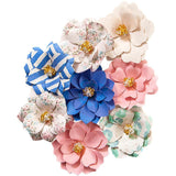 Prima Marketing - Santorini Mulberry Paper Flowers 8 pack - Pygos