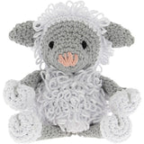 Hoooked Lamb Lewy Yarn Kit with Eco Brabante Yarn White & Gray